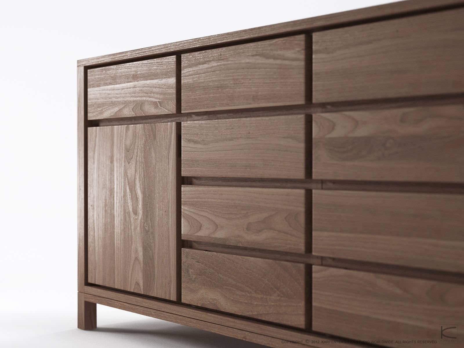 15 best ideas of modern walnut sideboards. Black Bedroom Furniture Sets. Home Design Ideas