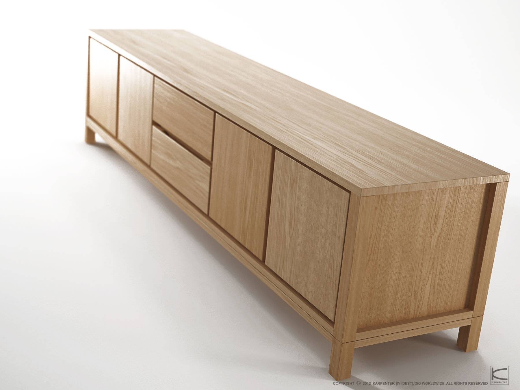 Contemporary Sideboard / Oak / Walnut / Solid Wood – Solid – Karpenter Throughout Real Wood Sideboards (#3 of 15)