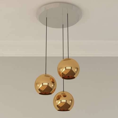 Copper 25 3 Light Multipoint Pendant Lighttom Dixon | Ylighting Inside Current Tom Dixon Pendant Lights (#8 of 15)
