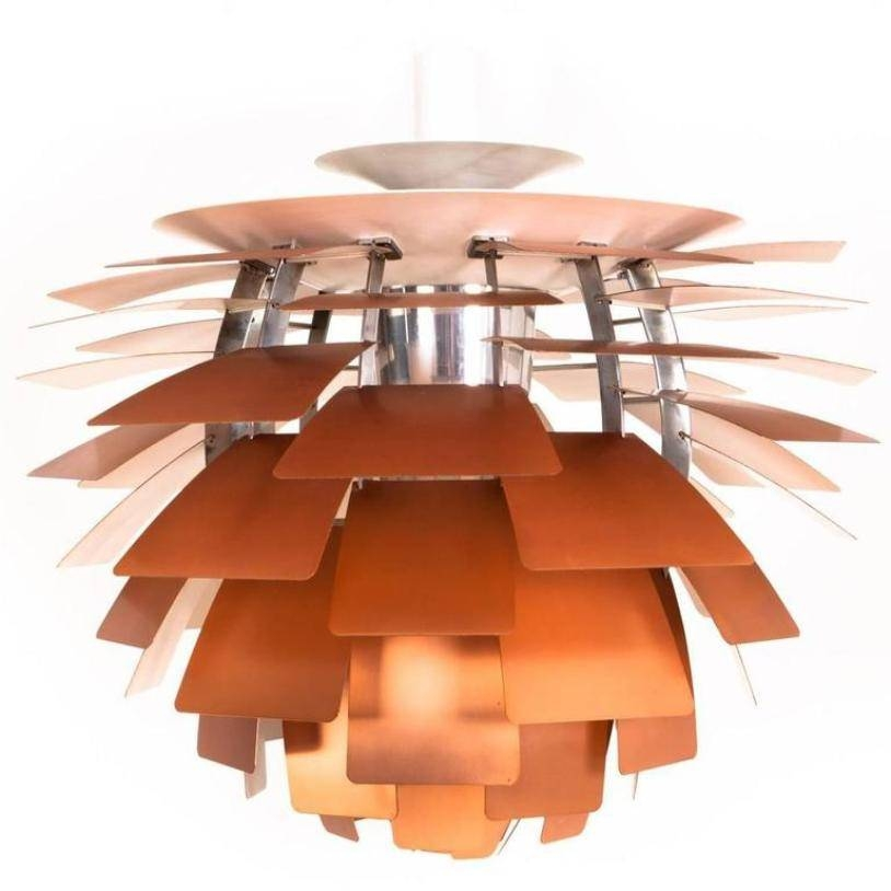 Copper Artichoke Pendant Lamppoul Henningsen For Louis Poulsen Inside Most Popular Louis Poulsen Artichoke Pendants (#5 of 15)
