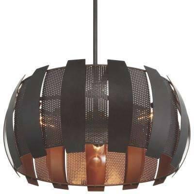 Copper – Pendant Lights – Hanging Lights – The Home Depot Inside Recent Copper Pendant Lights (#9 of 15)
