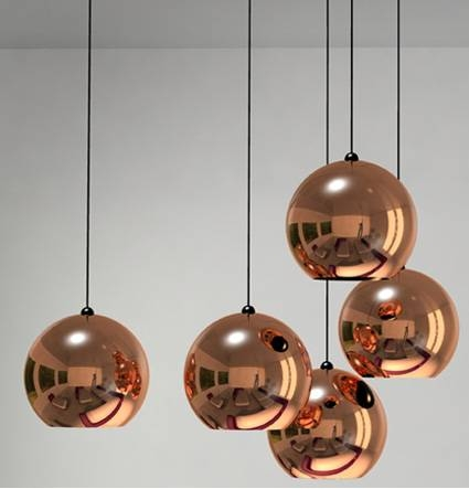 Popular Photo of Tom Dixon Copper Shade Pendants