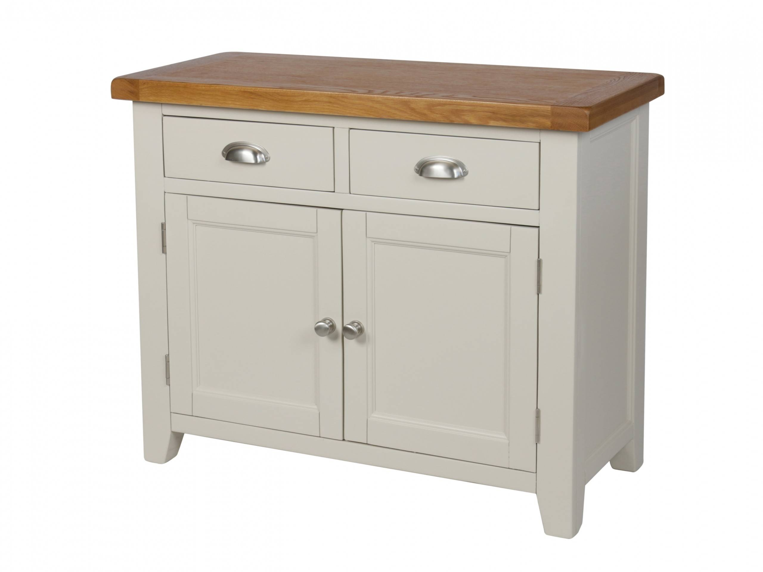Country Cottage 100Cm Grey Painted Oak Sideboard Intended For Grey Painted Sideboards (#3 of 15)