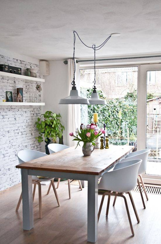 Creative Of Hanging Lights For Dining Table 17 Best Ideas About Inside 2017 Dining Table Pendant Lights (#5 of 15)
