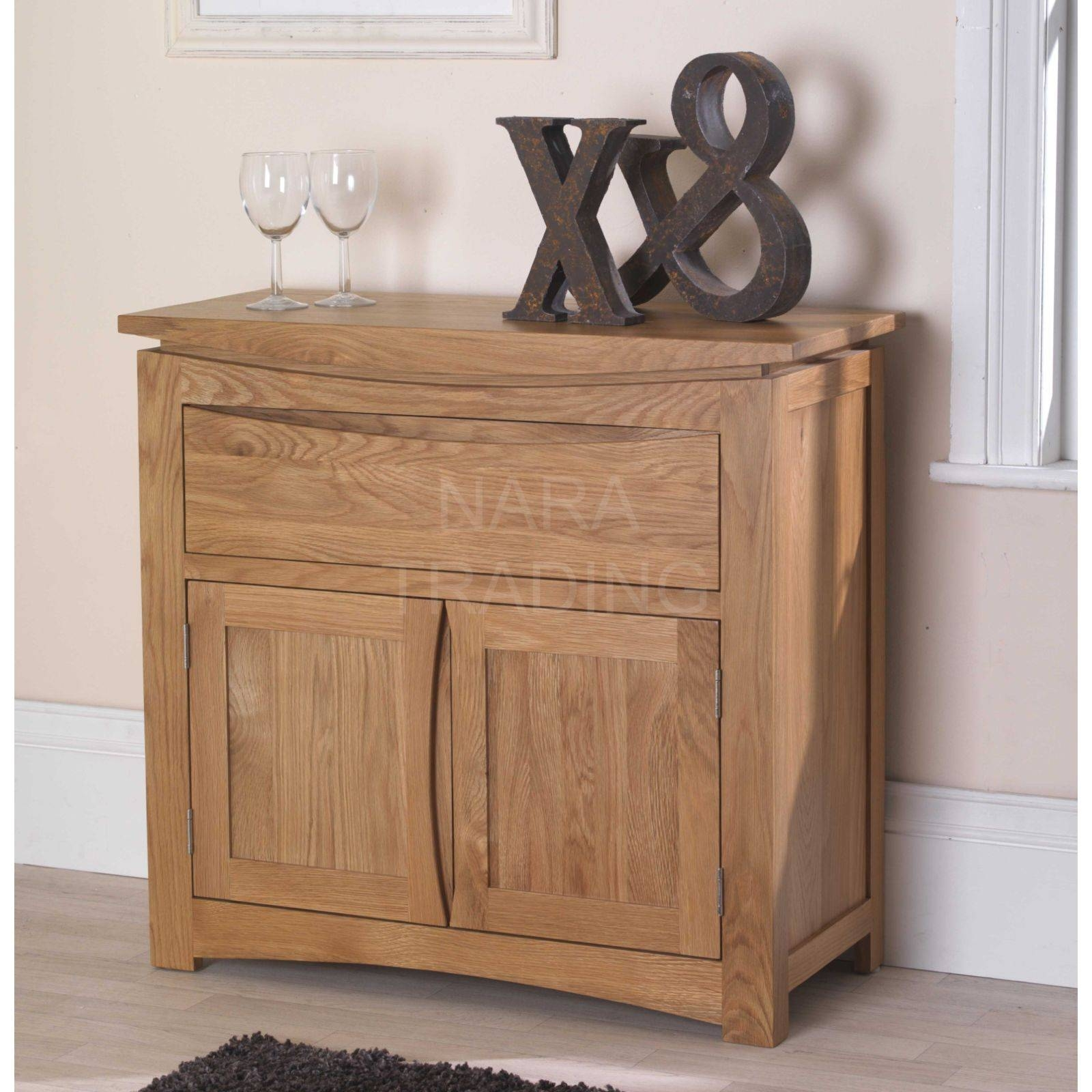 Crescent Solid Oak Furniture Small Sideboard For Narrow Oak Sideboards (#5 of 15)