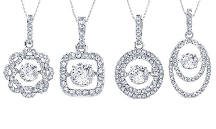 Cubic Zirconia Pendants | Groupon Goods Intended For Most Recently Released Dancing Pendants (View 7 of 15)