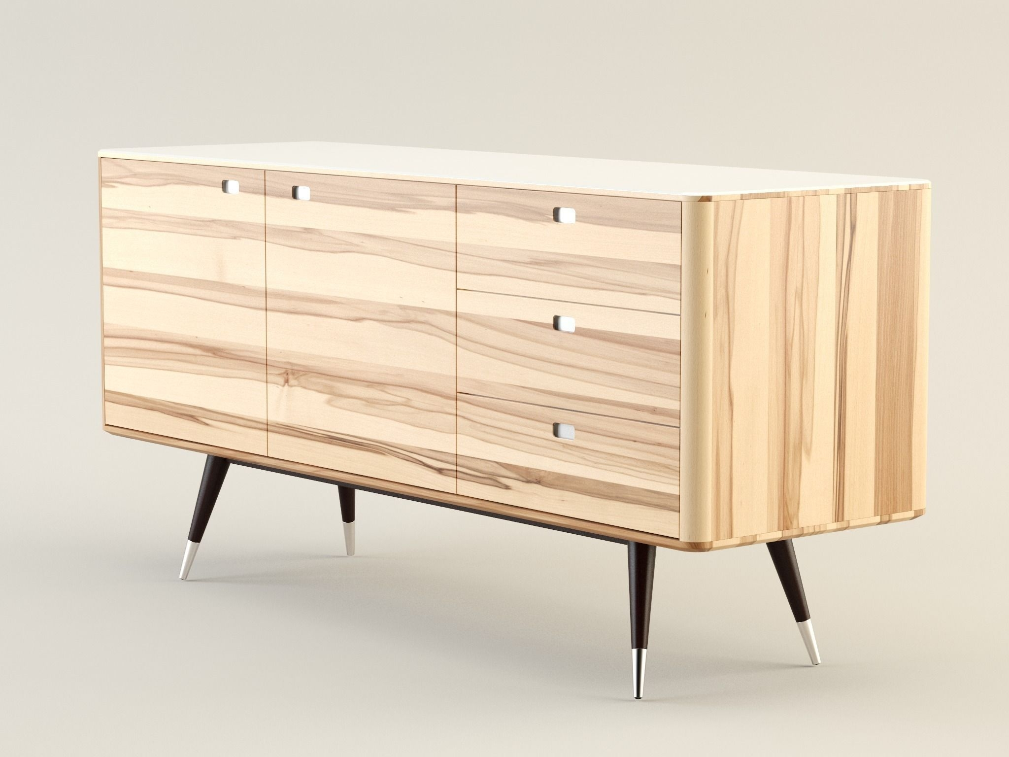 Danish Retro Sideboard 3D | Cgtrader With Regard To Retro Buffet Sideboards (#2 of 15)
