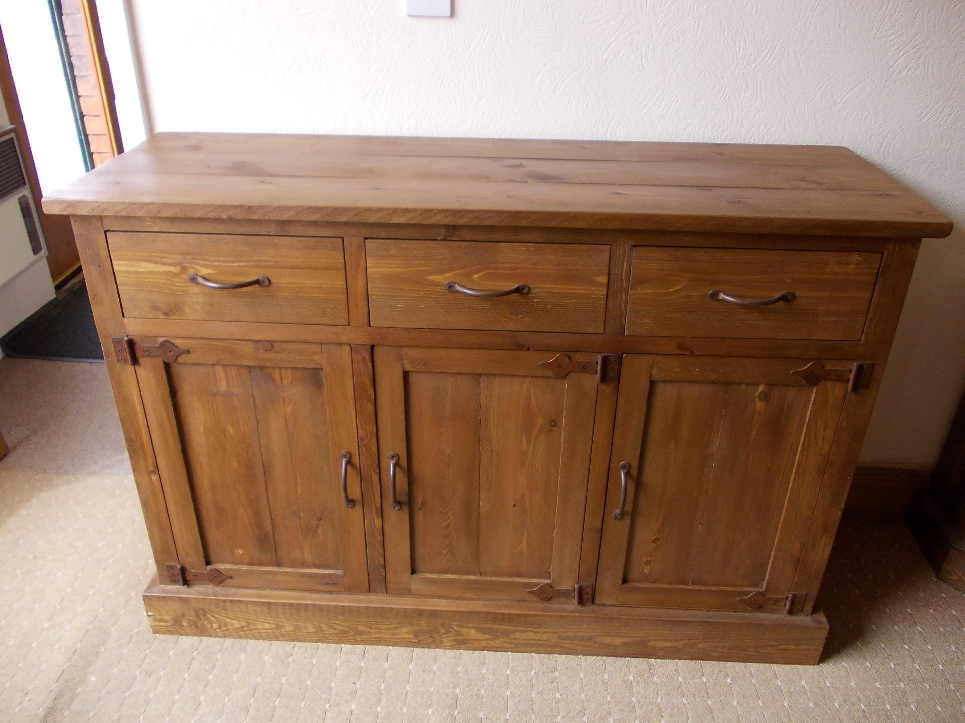 Decor: Rustic Pine Sideboard And Rustic Sideboard Intended For Pine Sideboards And Buffets (#4 of 15)