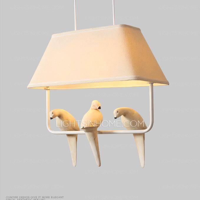 15 ideas of fabric pendant lighting decorative bird fabric trapezoid shaped pendant lights kitchen inside most popular fabric pendant lighting aloadofball Images