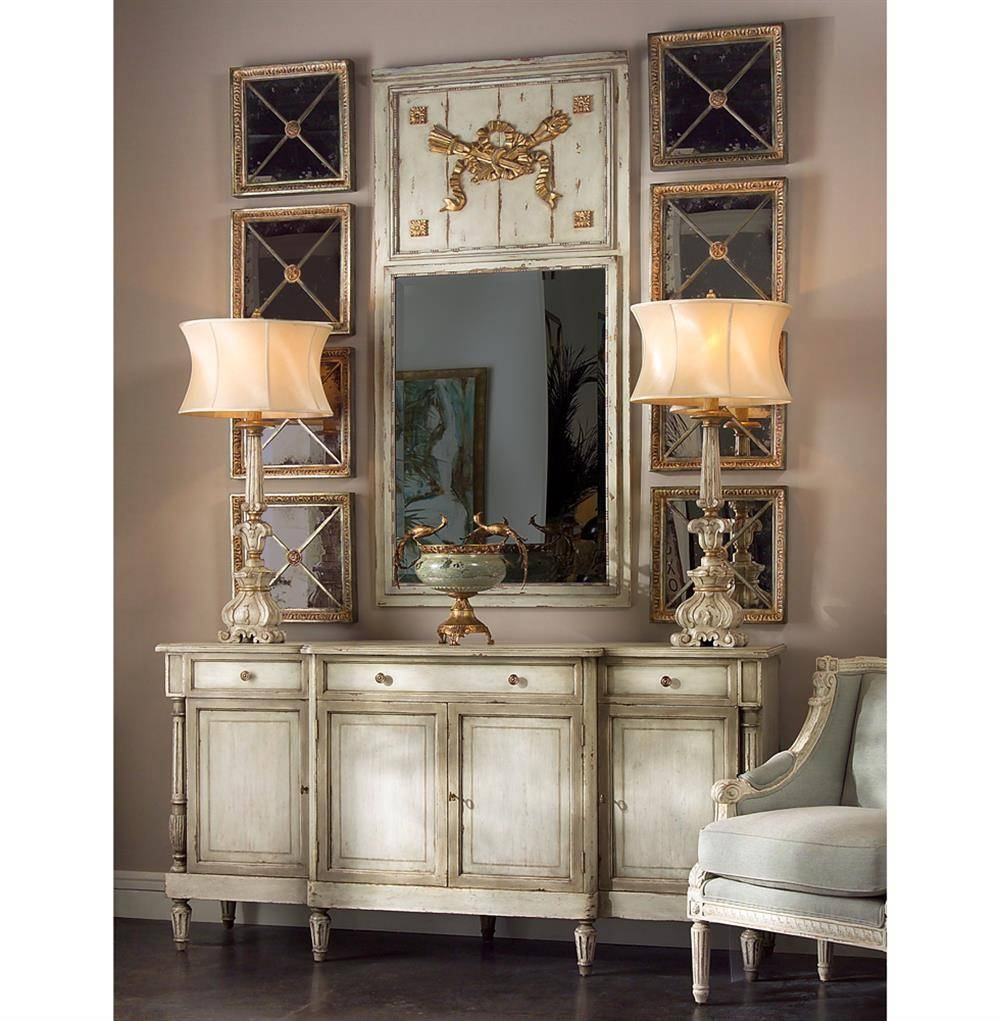 Delphine French Country Two Tone Antique Taupe Grey Sideboard With Regard To Grey Sideboards (View 14 of 15)