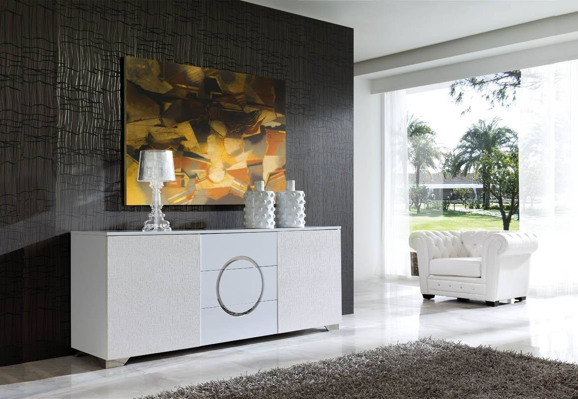 Dining Room Buffets Sideboards Plans Pertaining To Black Gloss Buffet Sideboards (#3 of 15)