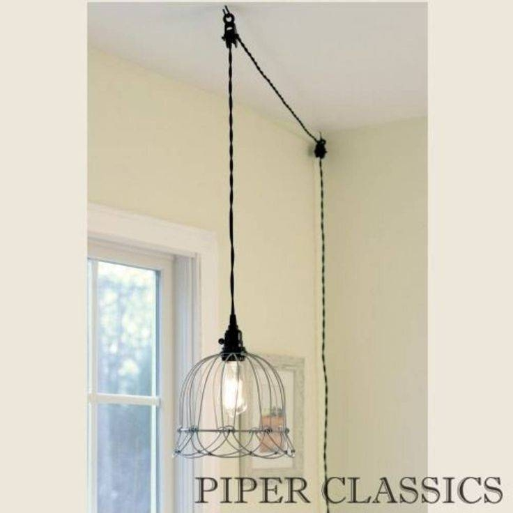 Dining Room Stylish Best 25 Plug In Pendant Light Ideas On With Latest Wall Pendants (#7 of 15)