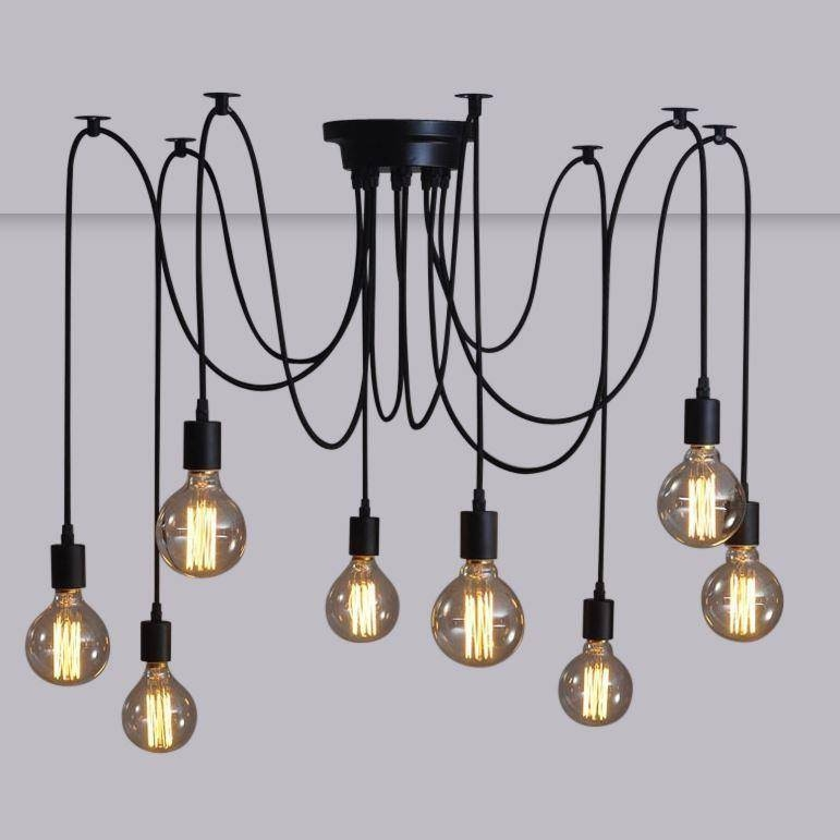 Discount 6/8/10/12/14 Lamps Retro Modern Spider Pendant Light In Latest Spider Pendant Lights (View 11 of 15)