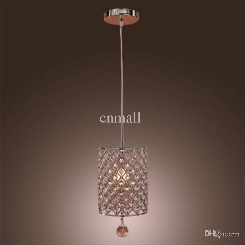 Discount Contemporary Crystal Drop Pendant Light In Cylinder Style Throughout Most Recently Released Drop Pendant Lights (#7 of 15)