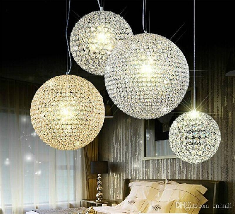 Discount Crystal Pendant Light 15Cm 20Cm 25Cm 30Cm Crystal Light For Most Recently Released Ball Pendant Lights (View 7 of 15)