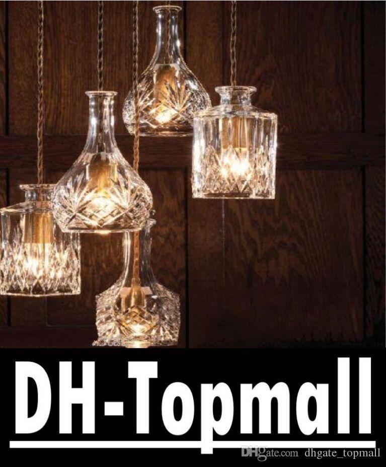 Discount Decanter Wine Perfume Bottle Pendant Light Chandelier Regarding Wine Bottle Pendant Light (View 13 of 15)