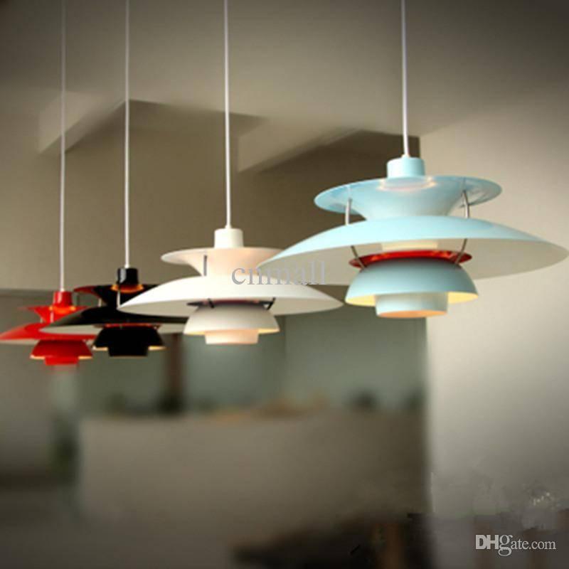 Discount Denmark Louis Poulsen Ph5 Pendant Lamp Red/white/black Regarding Most Recently Released Ph5 Pendant Lamps (#4 of 15)