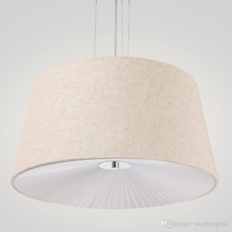 Discount Fabric Cloth Cover Pendant Lights Rural Modern Suspended Regarding Current Fabric Pendant Lighting (#4 of 15)