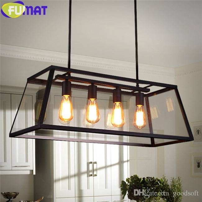 Discount Fumat Rh Loft Edison Box Chandelier Rectangular Pendant Pertaining To Most Popular Box Pendant Lights (#6 of 15)