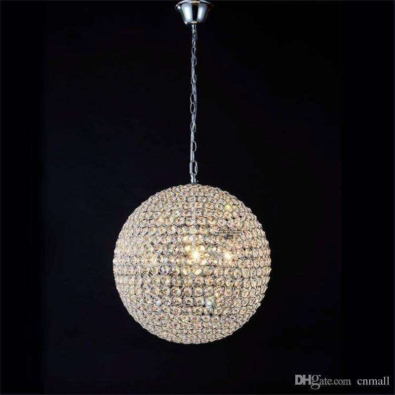 Discount Led Crystal Ball Lighting Crystal Pendant Lights For Most Current Ball Pendant Lamps (#8 of 15)