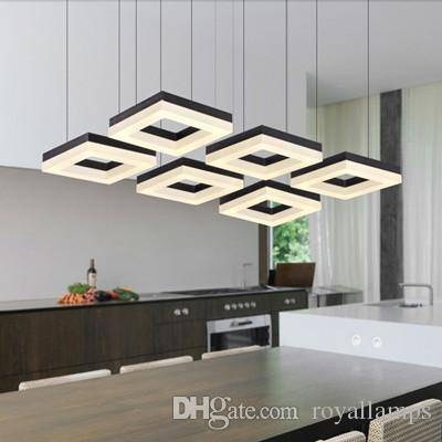 Discount Led Home Lighting Modern 4 Led Pendant Lights Bar Study Pertaining To Most Up To Date Office Pendant Lighting (View 9 of 15)