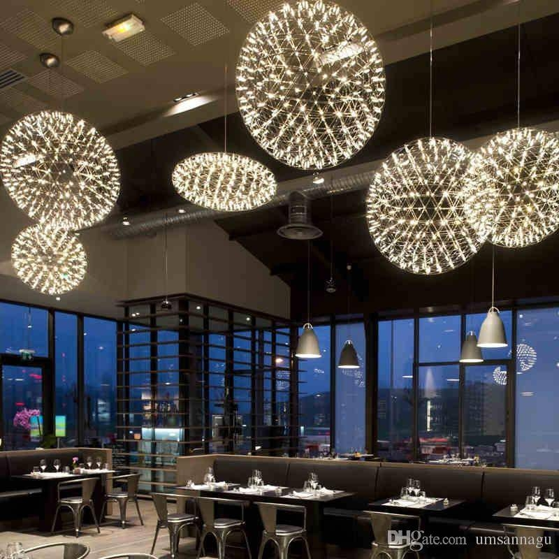 Discount Led Modern Pendant Lamps Fireworks Lamp Ball Stars Pertaining To 2018 Large Modern Pendant Lights (#5 of 15)