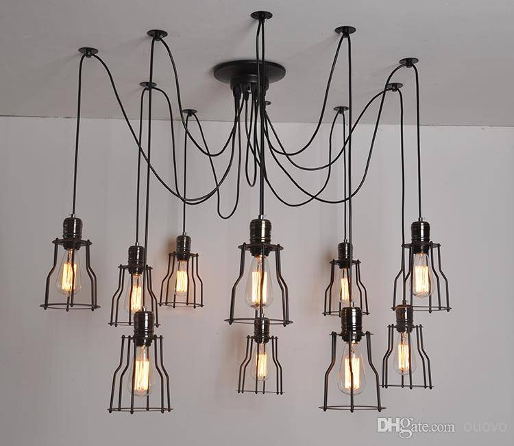 Discount Loft Vintage Industrial Spider Arms Pendant Light Dining With Most Recently Released Spider Pendant Lights (View 4 of 15)