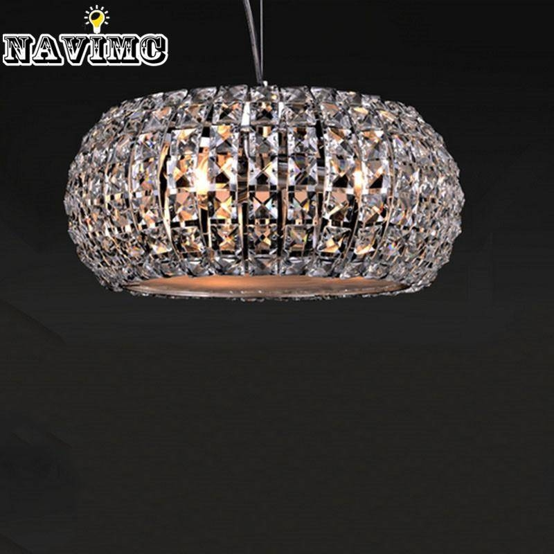 Discount Modern Crystal Led Pendant Light With Adjustable Cord For Inside Recent Crystal Led Pendant Lights (View 11 of 15)