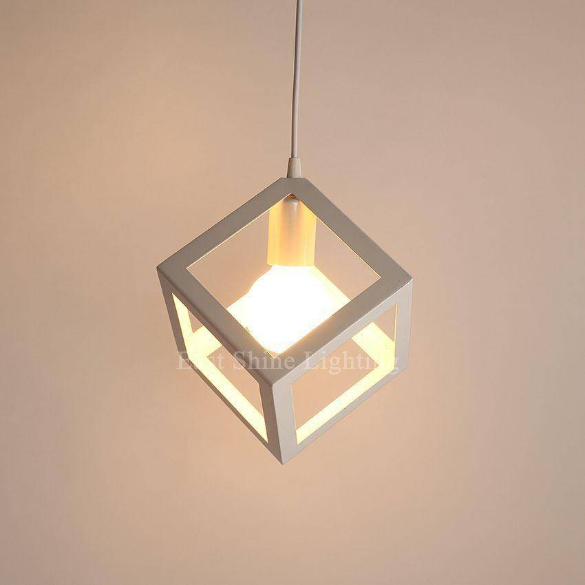 Discount Modern Geometry Box Pendant Lights For Home Cute Pendant Throughout Recent Box Pendant Lights (#7 of 15)