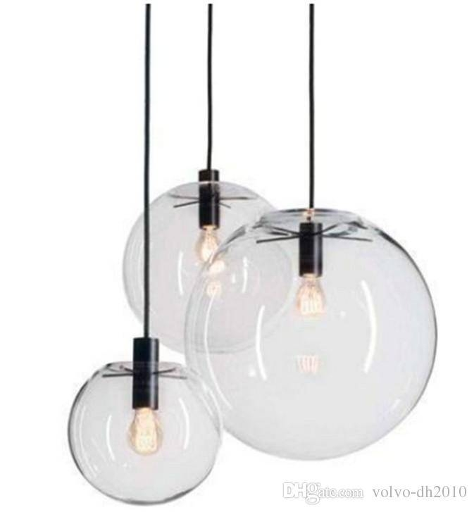 Discount Modern Nordic Lustre Globe Pendant Lights Glass Ball Lamp Regarding 2018 E27 Pendant Lights (View 11 of 15)