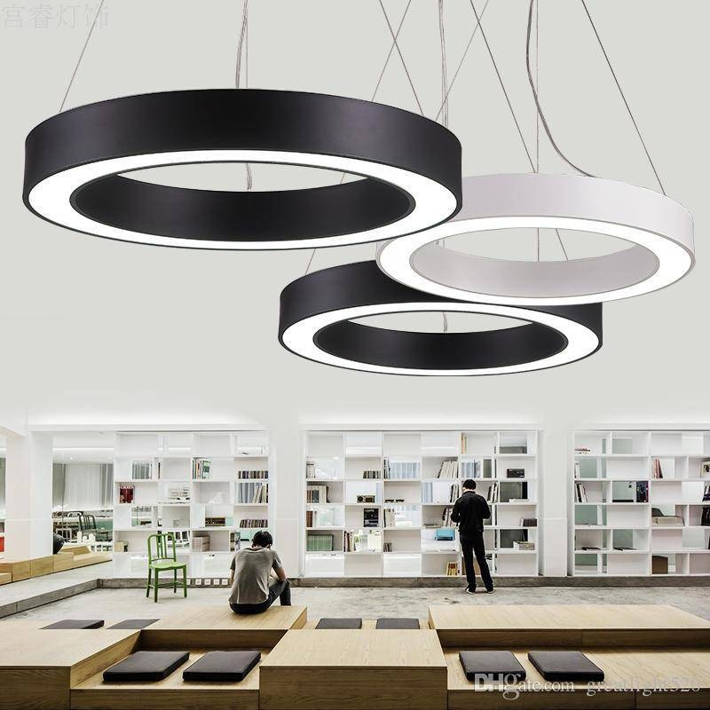 Discount Modern Office Led Circle Pendant Lights Round Suspension Regarding Recent Pendant Office Lighting (#5 of 15)