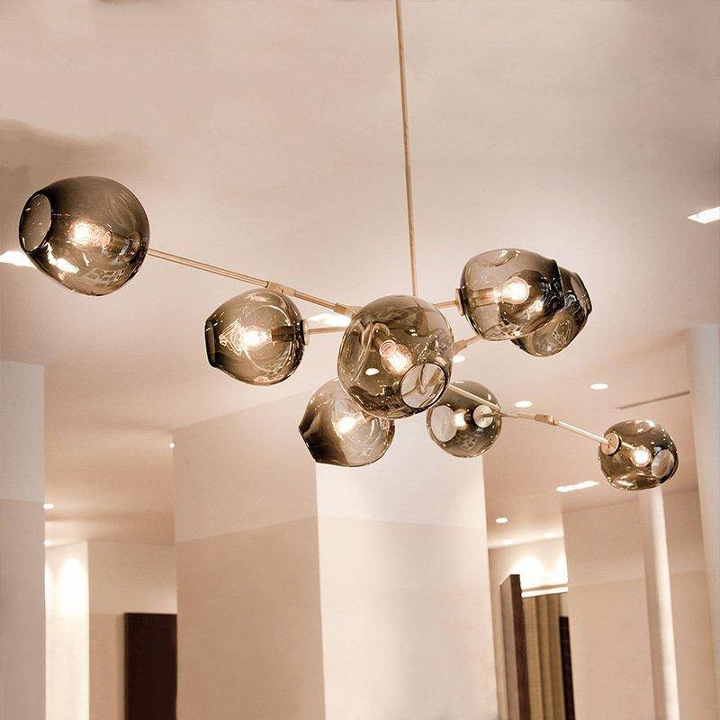 Discount Modern Pendant Lights Bubble Molecular Glass Ball Pendant For 2017 Bubble Lights Pendants (View 2 of 15)