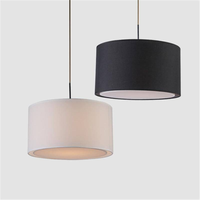 Discount Modern Round Fabric Pendant Lamp For Dining Room Lamparas In Recent Fabric Pendant Lighting (#5 of 15)