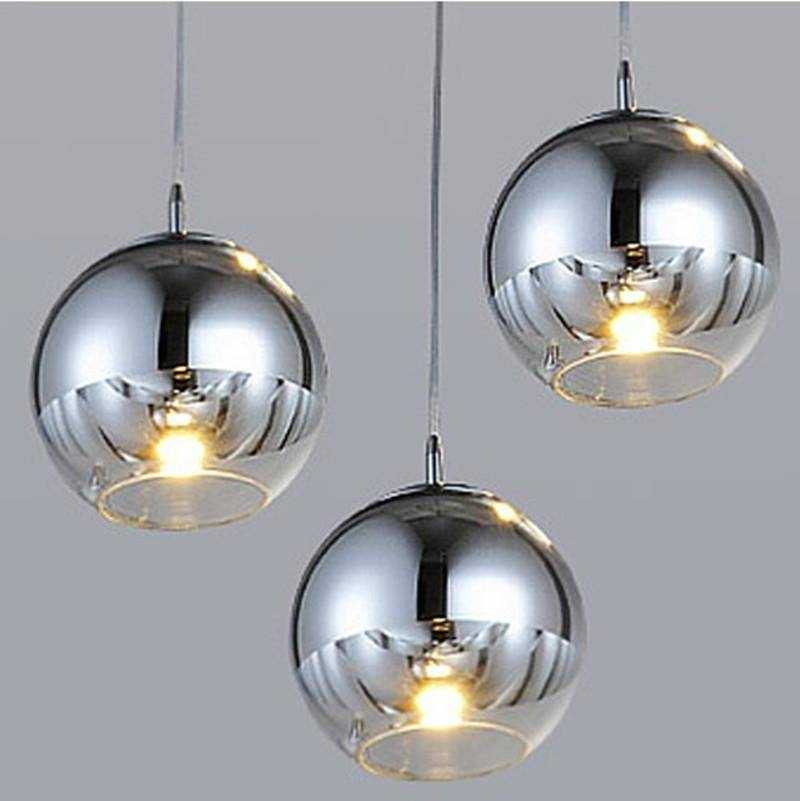 Discount Modern Tom Dixon Mirror Sliver Glass Pendant Lights Within Most Up To Date Mirror Pendant Lights (#5 of 15)