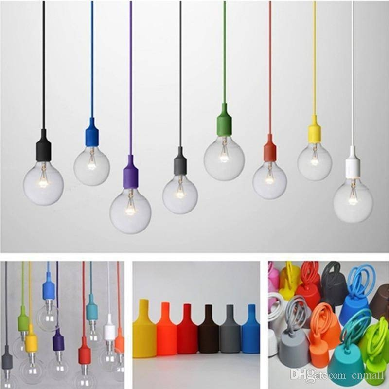 Discount Muuto Pendent Light Multicolour Silica Gel Lamp Holder Intended For Most Popular E27 Pendant Lamps (#7 of 15)