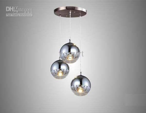 Discount New Modern Chrome Glass Mirror Ball Ceiling Lighting Throughout Current Mirror Pendant Lights (#6 of 15)