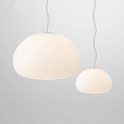 Discount New Modern Nordic White Glass Pendant Lights E27 Lustres In Most Up To Date Modern White Pendant Lighting (View 5 of 15)