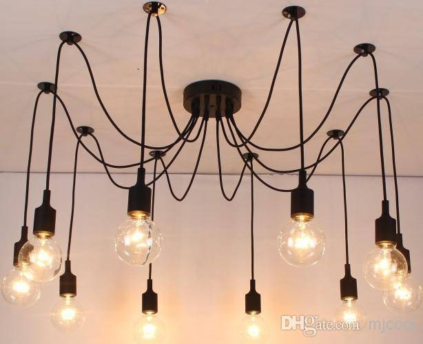 Discount New Net Retro Classic Chandelier 10 E27 Spider Lamp Throughout Most Current E27 Pendant Lamps (View 12 of 15)