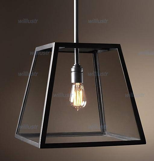 Discount Rh Lighting Restoration Hardware Vintage Pendant Lamp With Regard To Most Popular Box Pendant Lights (#8 of 15)