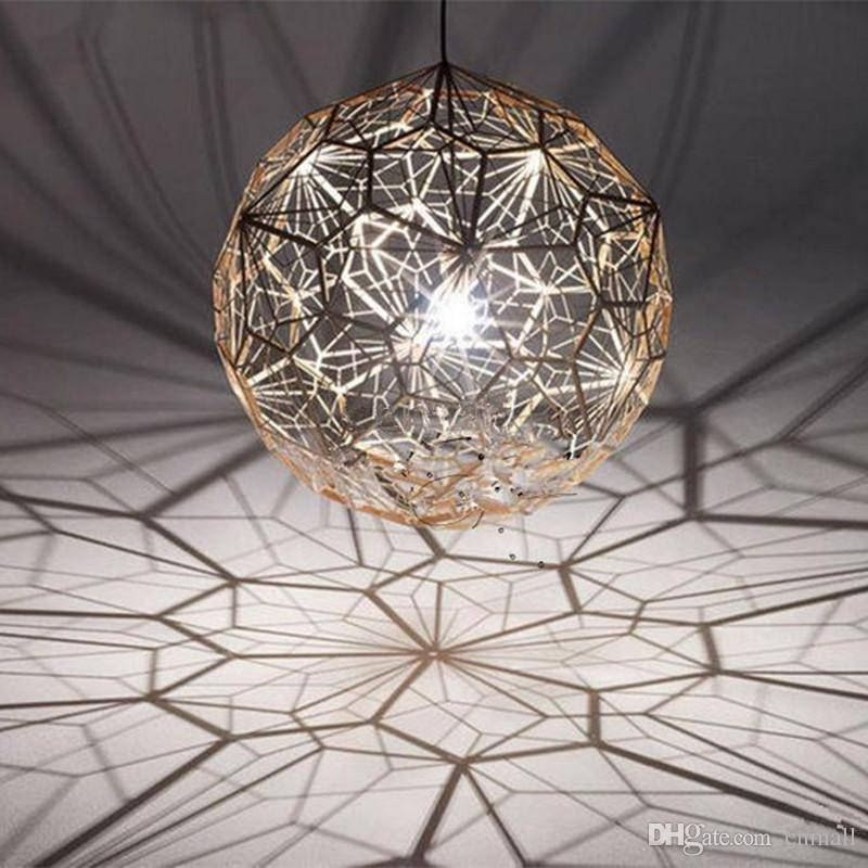 Discount Tom Dixon Etch Web Creative Arts Diamond Ball Hanging For 2018 Tom Dixon Etch Web Pendants (#2 of 15)