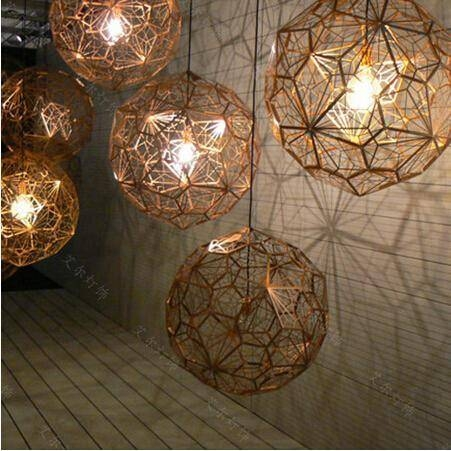 Discount Tom Dixon New Modern Brass Etch Web Pendant Light Pertaining To Newest Etch Pendants (#2 of 15)