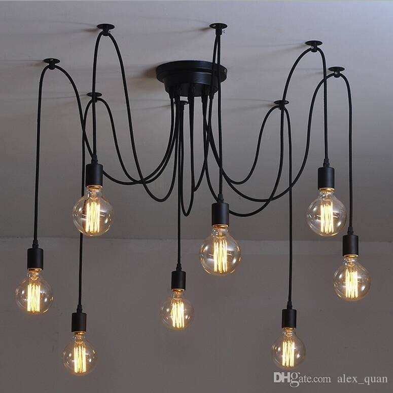 Discount Vintage Pendant Lamps Rh Loft Retro Edison Bulbs Hanging For Most Recently Released Vintage Pendant Lights (View 7 of 15)