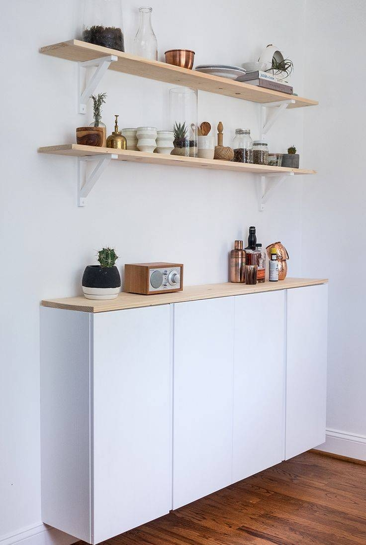 Diy Ikea Kitchen Cabinet | The Fresh Exchange | Kitchen In Shallow Sideboard Cabinets (#7 of 15)