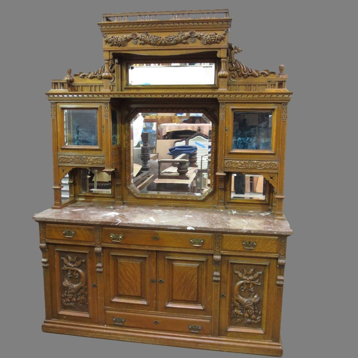 Download Antique Dining Room Sideboard | Gen4congress Regarding Stylish Antique Sideboards And Buffets (View 8 of 15)