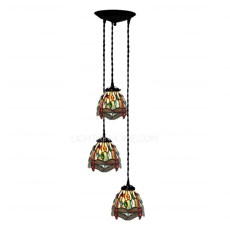 Dragonfly Pattern Stained Glass Tiffany Pendant Lights Kitchen Intended For Best And Newest Tiffany Pendant Lights (View 12 of 15)