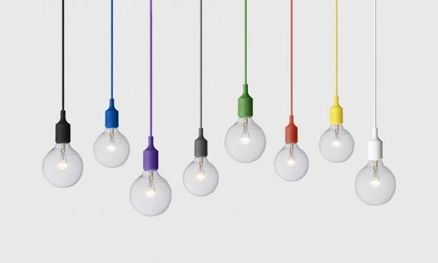 E27 Pendant Light In Black – Muuto – Living Edge Throughout Newest E27 Pendant (#13 of 15)