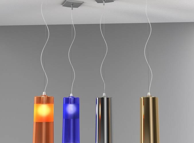 Easy Pendant Lampkartell 3D | Cgtrader Pertaining To Most Up To Date Kartell Pendant Lights (#2 of 15)