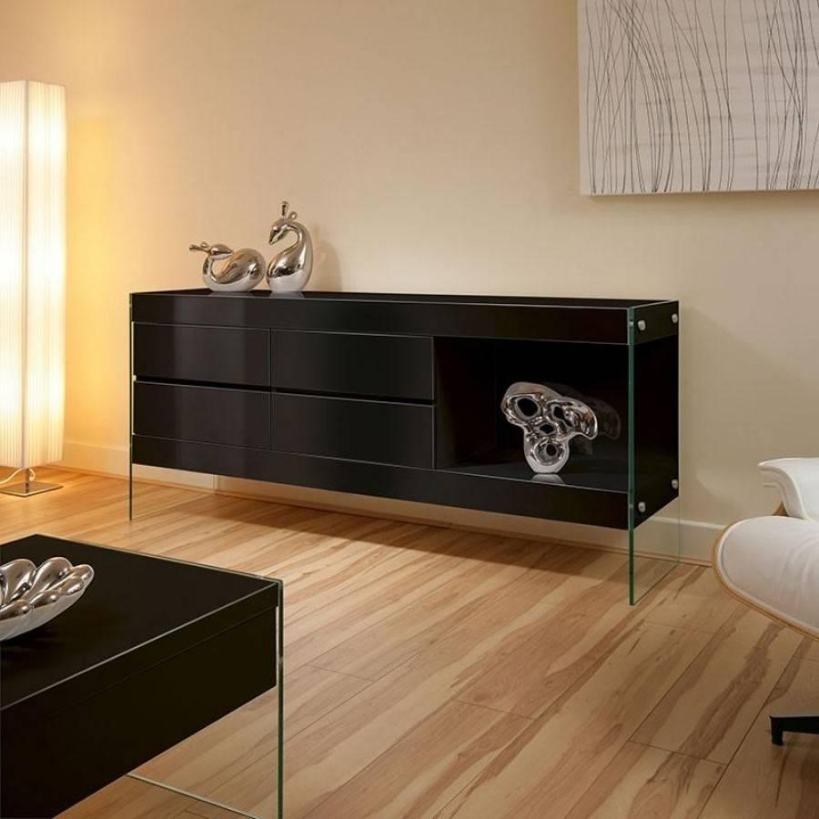 Elegant Black Sideboard Buffet Throughout Elegant Black Sideboards And Buffets (View 11 of 15)