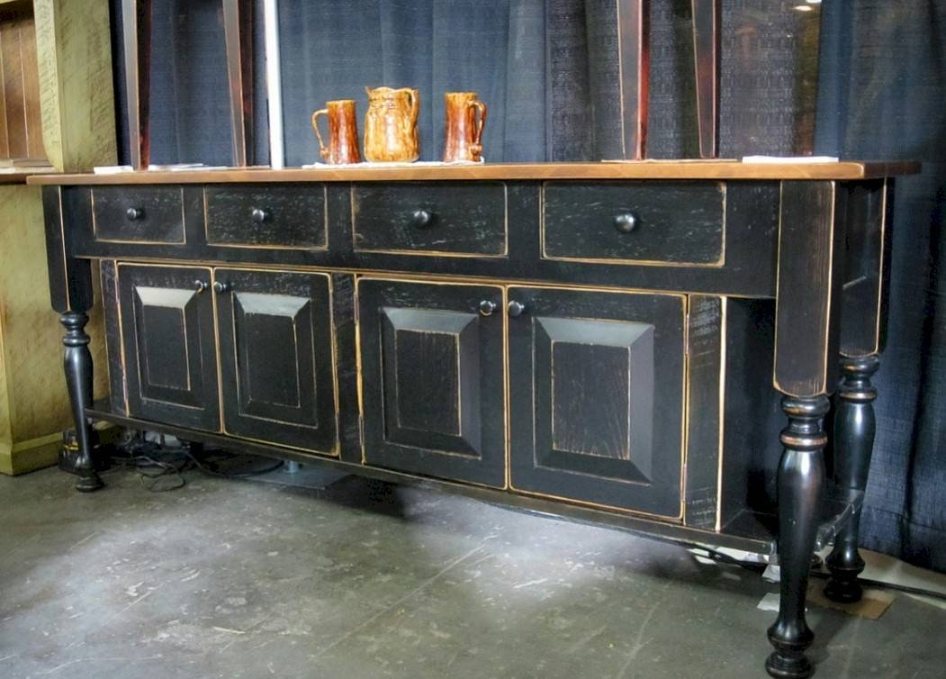 Elegant Black Sideboard Buffet Within Black Gloss Buffet Sideboards (#6 of 15)