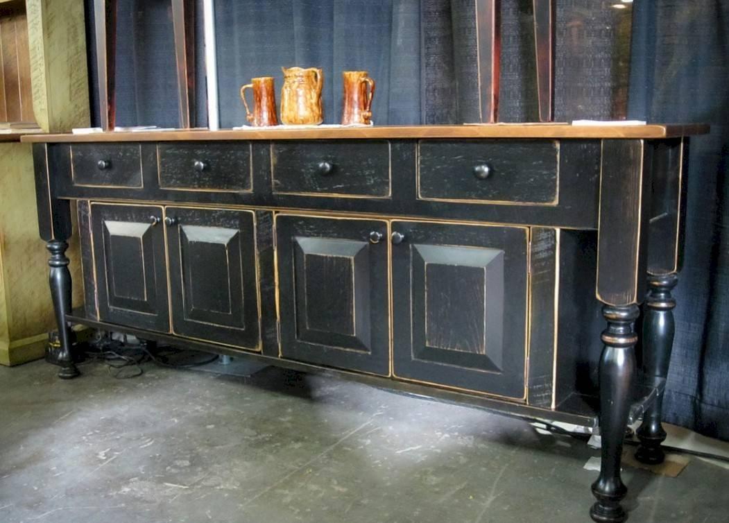 Elegant Black Sideboard Buffet Within Black Gloss Buffet Sideboards (#6 of 15)